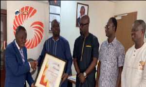 Officials of UTAG making the presentation to GOIL's