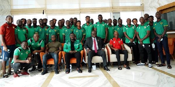 Francis Asenso-Boakye visits Asante Kotoko in Dubai