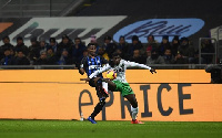 Alfred Duncan in a tussle with Kwadwo Asamoah