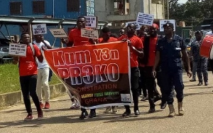 Workers on demonstration