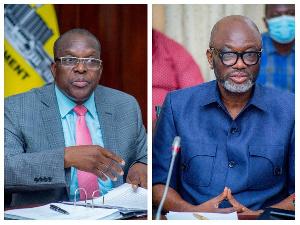 Speaker of Parliament, Alban Bagbin and GUTA president, Dr Joseph Obeng