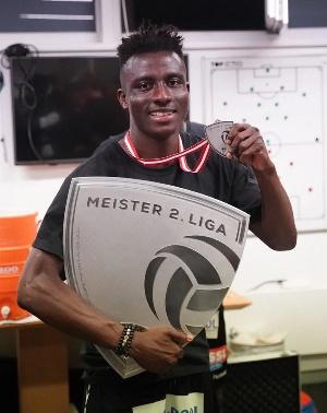 Ghanaian midfield Reuben Acquah