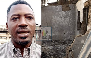 Mohammed Daniyalu blamed personnel of the Ghana National Fire Service for the devastation