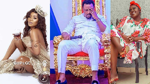 Musician Mzbel, Nigel Gaisie and Tracey Boakye