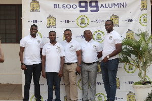 Members of the 1999  old students  group of Accra Academy