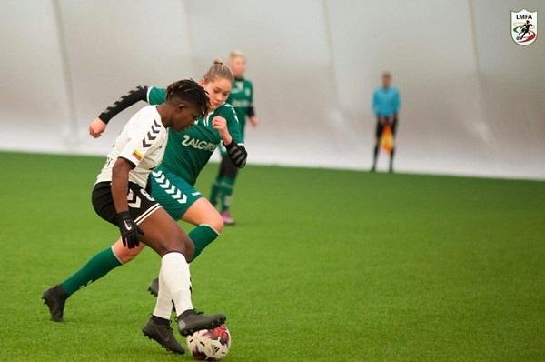 Black Queens star Priscilla Okyere set up three goals on FC Gintra Universitetas debut