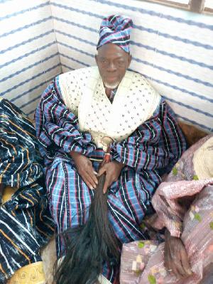 The Paramount Chief of Busunu Traditional Area, Busunuwura Monasa Jonokpowu (II)