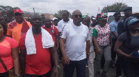 Former President John Dramani Mahama with some members of the NDC