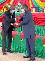 Benito Owusu-Bio ushering in a member