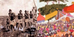 King Osei Yaw escaped with a large number of his bodyguards through the right wing of his army