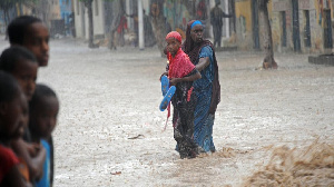 File photo of flooding in an African country