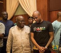 Andre Ayew and President Nana Akufo-Addo