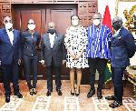 Dr Ofosu-Asare, Ms Okyere, Prez. Akufo-Addo, Dr. Williams, Mustapha Ussif, Reks Brobby