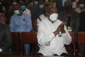 Laurent Gbagbo attended church on Sunday June 20