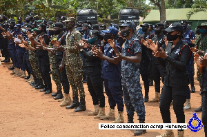 The security officers involved in the training