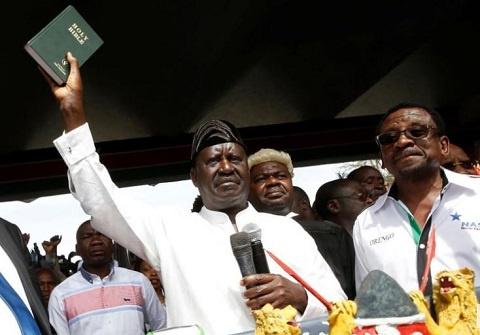 Raila Odinga has declared himself the 'people