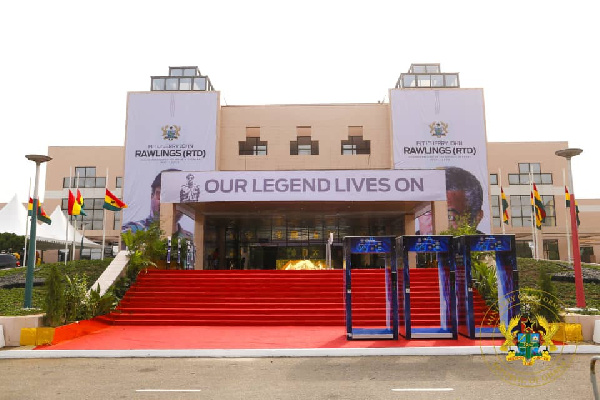 Accra International Conference Centre ready for Rawlings' funeral