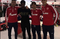 Boakye-Yiadom with his some of his former temmates