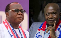 NPP National Chairman, Freddie Blay and four-time failed National Chairman Aspirant, Stephen Ntim