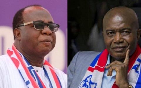 NPP National Chairman, Freddie Blay and four-time failed National Chairman Aspirant, Stephen Ntim