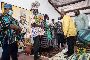 President Nana Addo Dankwa Akufo-Addo and the Bawku Naba, Asigiri Abugrago Azoka II