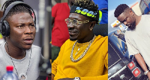 Stonebwoy, Shatta Wele and Sarkodie (from left to right)