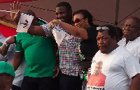 John Dumelo, Papa Nii campaigning for NDC