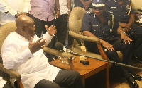 President-elect, Nana Akufo-Addo and Inspector General of Police (IGP) John Kudalor