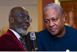 Founder of Danquah Institute, Gabby Asare Otchere-Darko and former president John Dramani Mahama