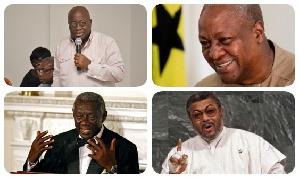 President Nana Addo Dankwa Akufo-Addo with former presidents of Ghana