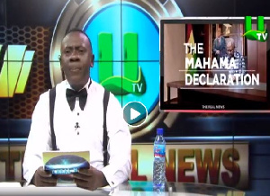 Akrobeto hosted 'the Real News' which focused on Former President Mahama's flagbearership decision