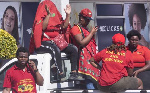 The EFF had called for protests over the advert
