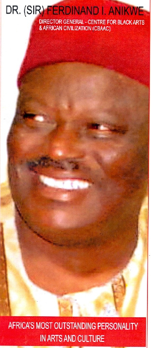Picture shows Dr (Sir) Ferdinand Ike Anikwe, Director-General of CBAAC