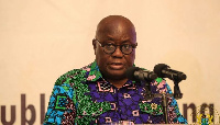 President Akufo-Addo speaking at the launch of the GOGLR 2018