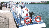 The patrol boats are to ensure the security of Ghana's territorial waters.