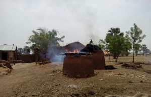 Houses have been torched and several inhabitants have fled the ravaged communities