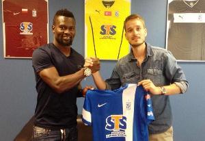 Ghanaian combative midfielder Aziz Tetteh