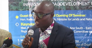 Vice Chairman of Land Surveying Division of the GhIS, Dr. Anthony Arko-Adjei