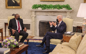 Kenyatta with Biden at the White House