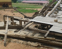 File photo: Classes 5 and 6 have been collapsed due to the poor structure