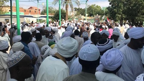 Protests began after Friday prayers