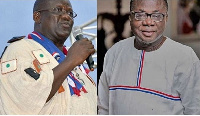 Former National Chairman of the NPP, Paul Afoko and Newly elected National Chairman, Freddie Blay