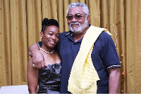 MP for Korle Klottey Constituency, Dr Zanetor Rawlings with ex-President  Jerry John Rawlings.