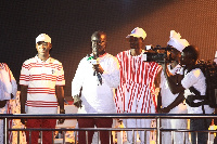 Dr. Papa Kwesi Nduom and other PPP members during one of their tour