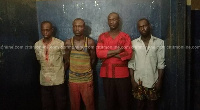 The suspects arrested in connection with the murder of Captain Maxwell Mahama