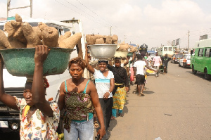 Kayayei are mostly women from the three Northern Regions who migrated down south to work