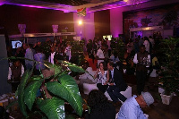 A cross section of Ghanaians at the wine tasting event