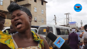 The woman wailed uncontrollably upon hearing she cant have access to her funds