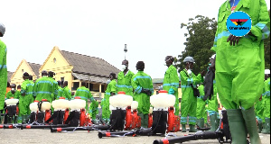 Over 1,300 persons were engaged for the disinfection exercise