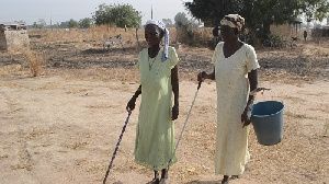 Two Visually Impaired Women Town Hall